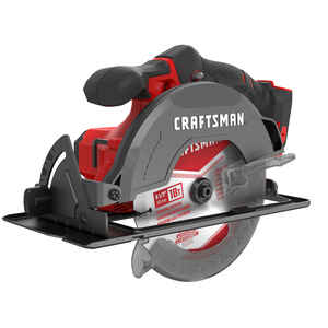 Craftsman  20V MAX  6-1/2 in. Cordless  Circular Saw  4000 rpm Keyless  50 deg. Red