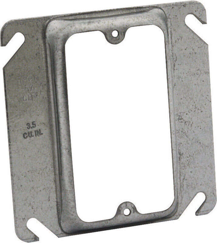 Raco Square Steel 1 gang Box Cover For Single Wiring Device