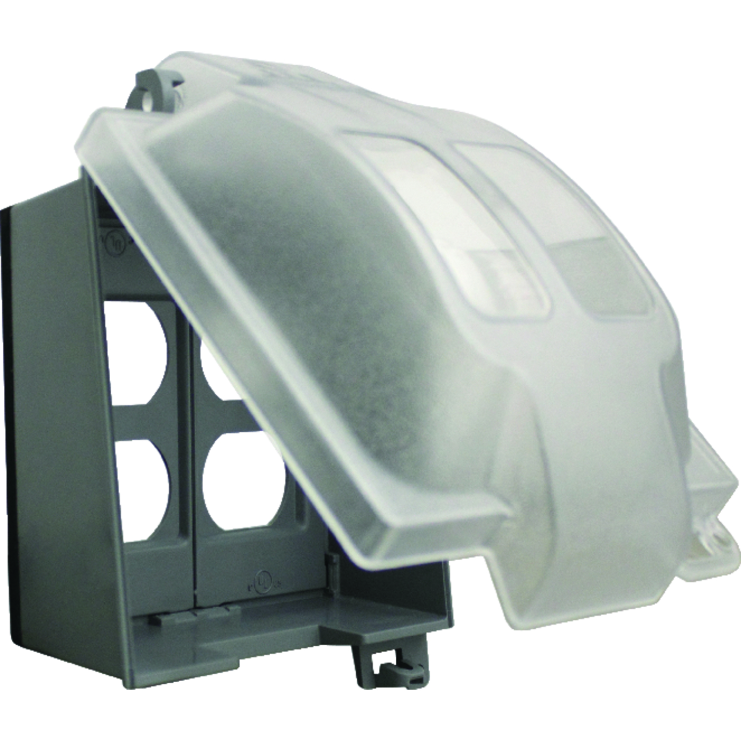 Sigma  Rectangle  Plastic  2 gang Duplex GFCI Cover  For Wet Locations