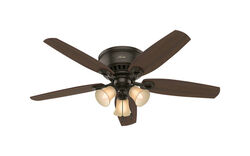 Hunter Fan  Builder Low Profile  52 in. New Bronze  Indoor  Ceiling Fan