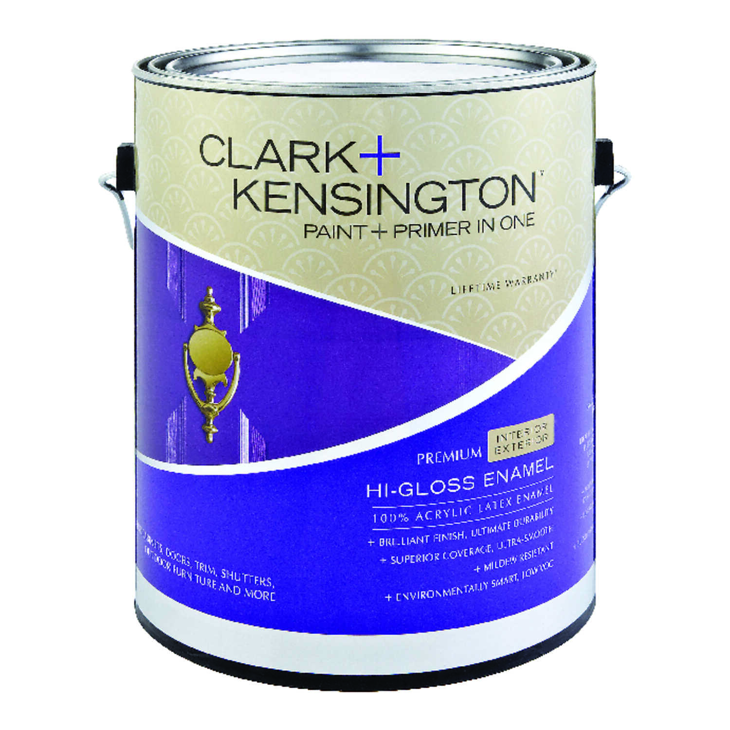 Clark+Kensington  High-Gloss  Designer White  1 gal. Paint and Primer