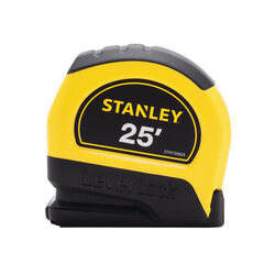 Stanley  LeverLock  25 ft. L x 1 in. W Tape Measure  Black/Yellow  1 pk