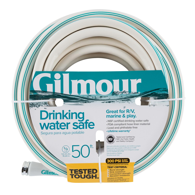 Gilmour 5 8 In Dia X 50 Ft L Rv Marine White Vinyl Garden Hose Ace Hardware