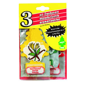 Little Trees  Assorted  Car Air Freshener  3 pk