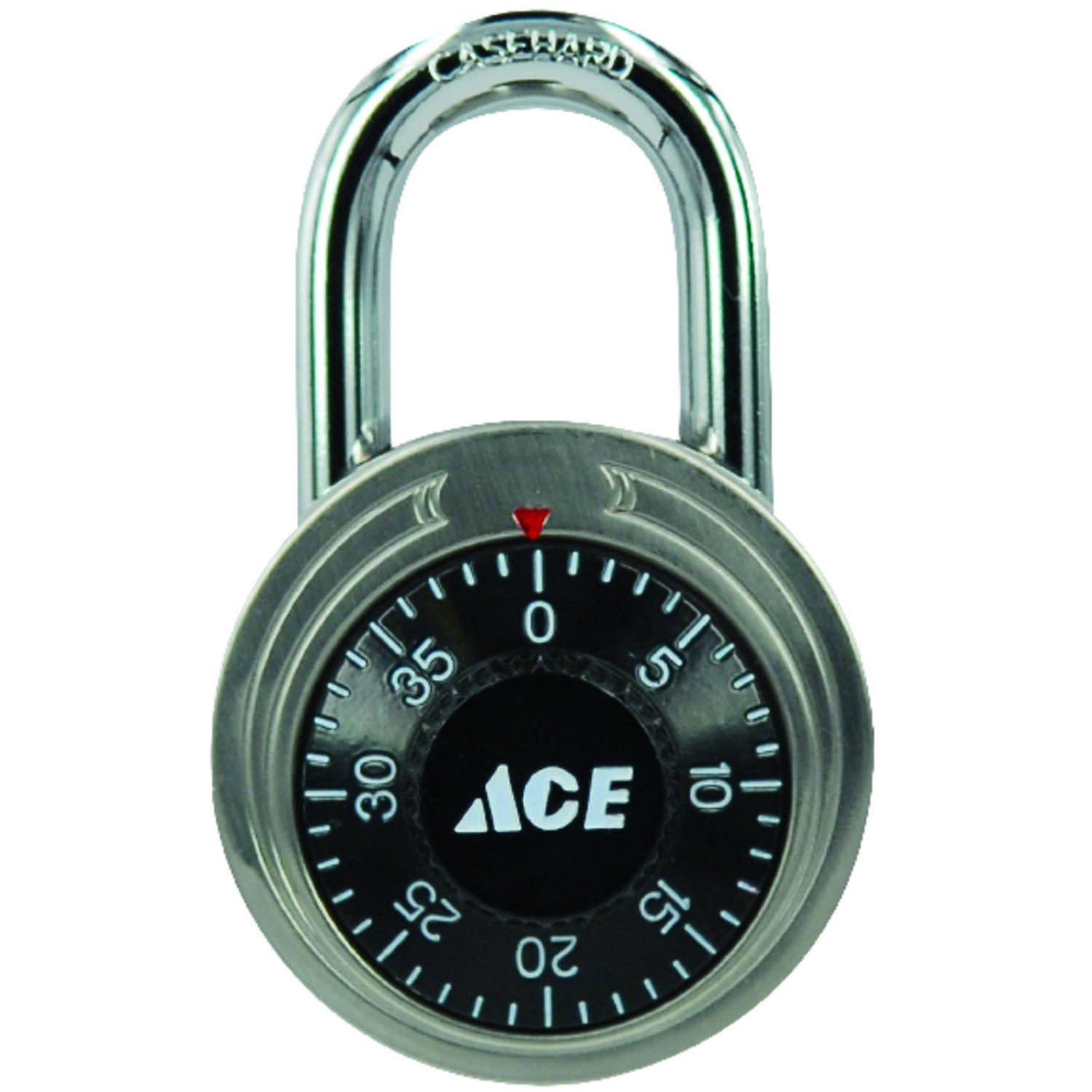 Ace  1-7/8 in. H x 1-7/8 in. W x 3/4 in. L Stainless Steel  3-Digit Combination  Padlock  2 pk