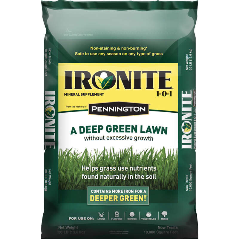 Pennington  Ironite  1-0-1  Mineral Supplement  For All Grass Types 30 lb. 10000 sq. ft.