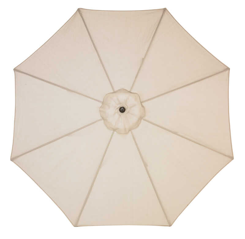 Sunline  Traditional  9 ft. Tiltable Beige  Market Umbrella