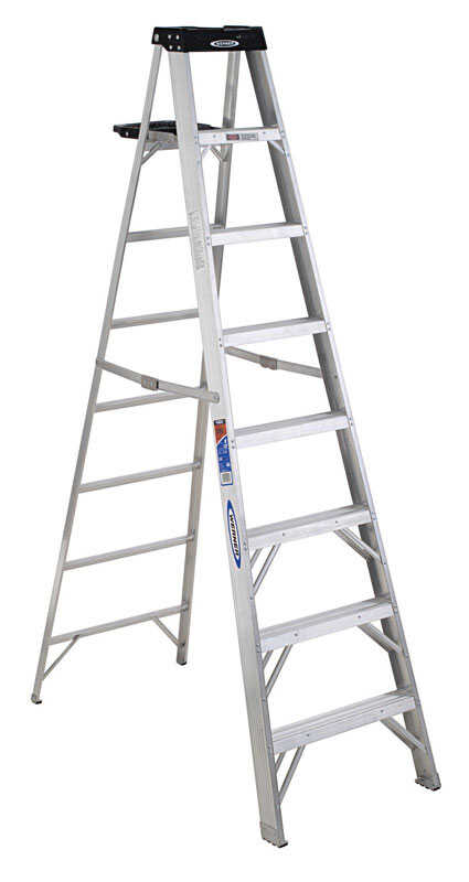 Werner  8 ft. H x 26.5 in. W Aluminum  Type IA  300 lb. capacity Step Ladder