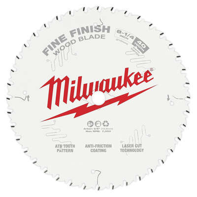 Milwaukee  8-1/4 in. Dia. x 5/8 in.  Fine Finish  Saw Blade  Tungsten Carbide  40 teeth 1 pk