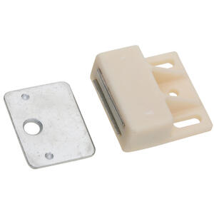 National Hardware  Magnecatch  White  Nylon/Steel  1-5/32 in. 1 pk Cabinet Catch