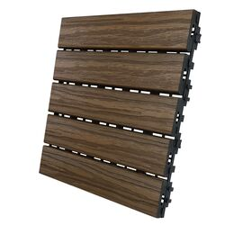 Aura  12 in. W x 12 in. L Walnut  Composite  Balcony/Deck Tiles  6 sq. ft./case
