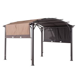 Living Accents  Arched  Garden Shade Pergola  100 in. H x 10 ft. W x 10 ft. L