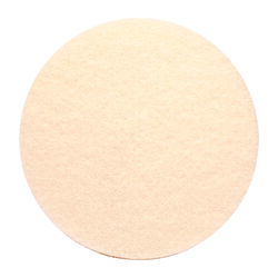 Gator  17 in. Dia. Non-Woven Natural/Polyester Fiber  Floor Polishing Pad  White