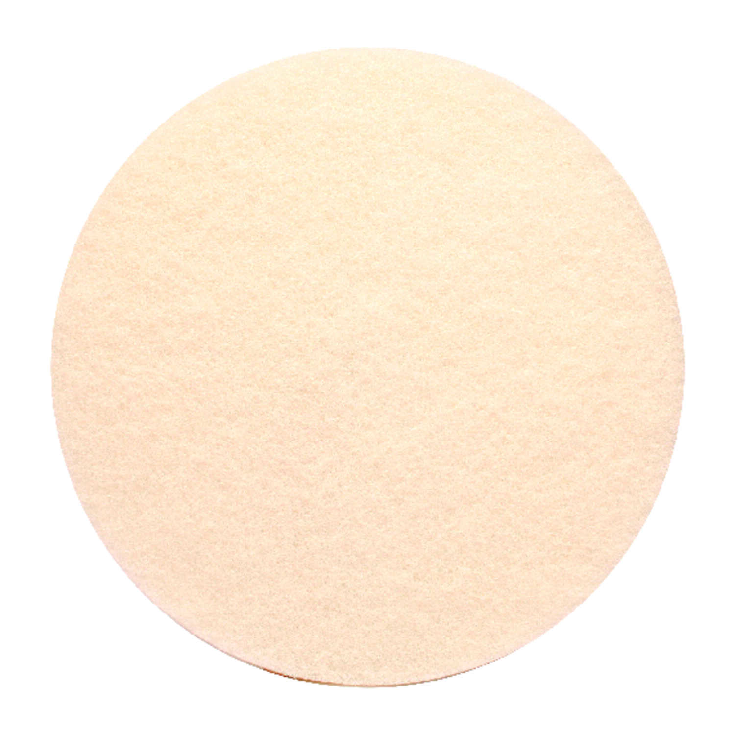 Gator  17 in. Dia. Non-Woven Natural/Polyester Fiber  Floor Pad Disc  White