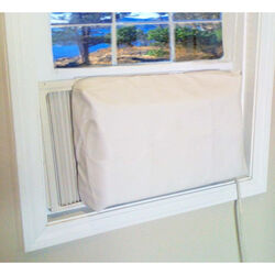 AC Safe  21 in. H x 29 in. W PVC  Tan  Square  Indoor  Window Air Conditioner Cover