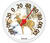 Taylor  Deer Design  Dial Thermometer  Plastic  Multicolored