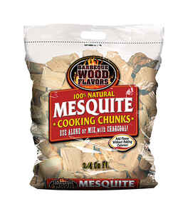 Barbeque Wood Flavors  Mesquite  Cooking Chunks  0.75 cu. ft.