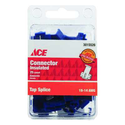 Ace Tap Splice Connector Blue 25 pk