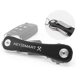 KeySmart  Aluminum  Black  Key Holder