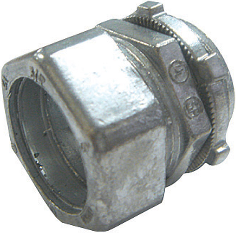 Sigma  1/2 in. Dia. Zinc  Compression Connector  For EMT