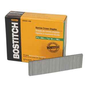 Bostitch  1-3/8 in. L Galvanized  Stainless Steel  Wire Staples  18 Ga.