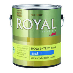 Ace  Royal  Satin  Neutral Base  House & Trim Paint & Primer  1 gal.