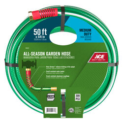 Ace 5/8 in. Dia. x 50 ft. L Medium-Duty Green Hose