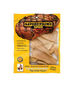 Savory Prime  All Size Dogs  Adult  Rawhide Chips  Natural  1 pk