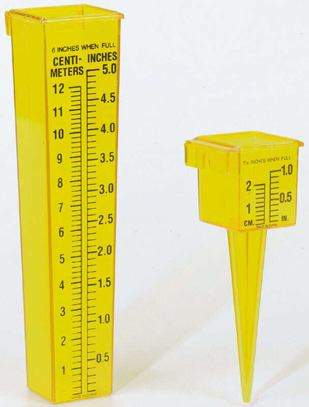 Taylor  Rain Gauge  Ground  1.2 in. W x 7.8 in. L