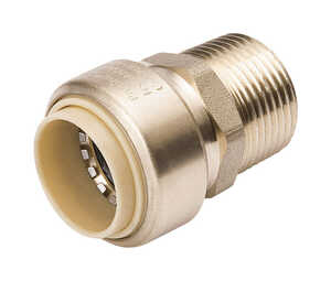 ProLine  3/4 in. MPT  Dia. x 3/4 in. MPT  Dia. Push  MPT  Brass  Compression Adapter