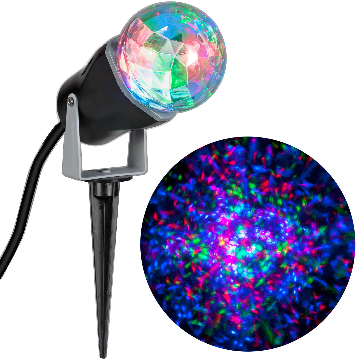 Gemmy  Lightshow  LED  Multicolored  Christmas Light Projector