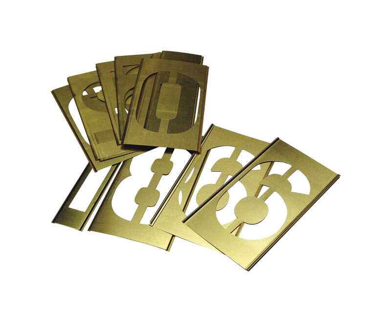 C.H. Hanson  2 in. Brass  Number Set  Nail-On  0-9