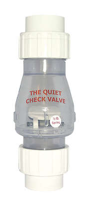 Magic Plastics  1-1/2 in. Dia. PVC  Quiet  Check Valve