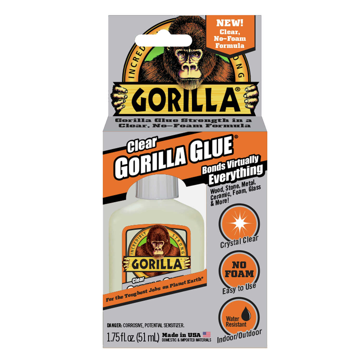 Gorilla  High Strength  Clear Gorilla Glue  1.75 oz.