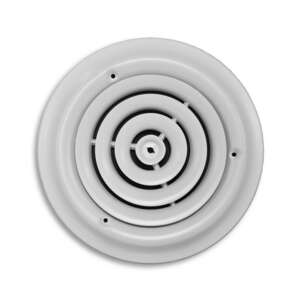 Greystone  1-1/8 in. D x 8 in. H Steel  White  Ceiling Diffuser