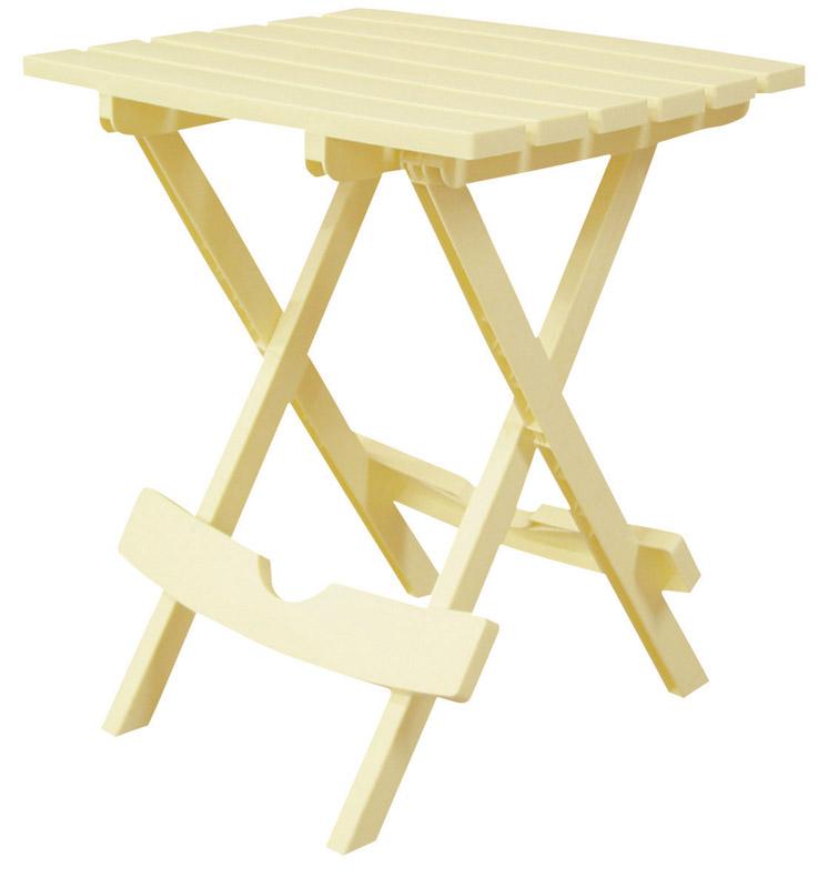 Adams QuikFold Yellow Classic Adirondack Rectangular Folding Side Table  Polyresin