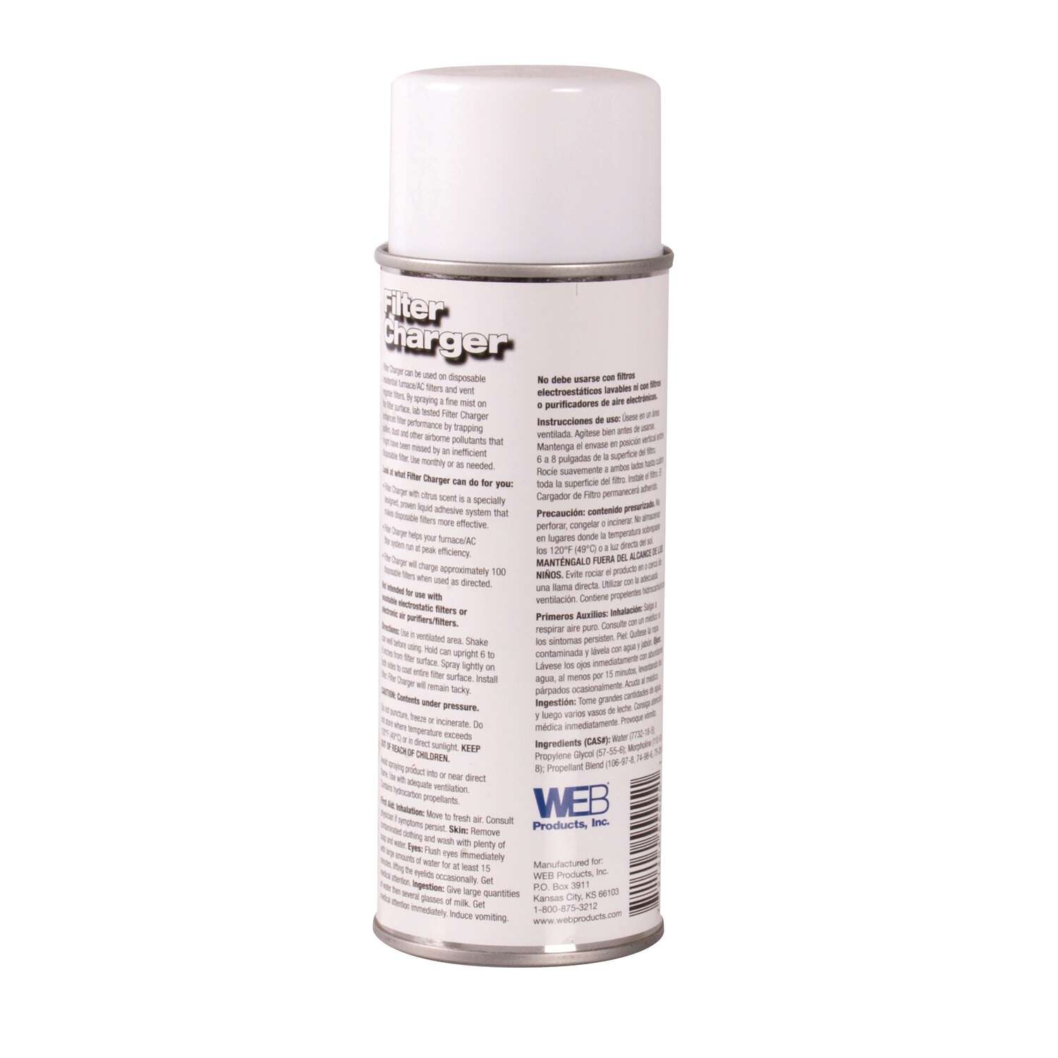 Web  Filter Charger Aersol Spray