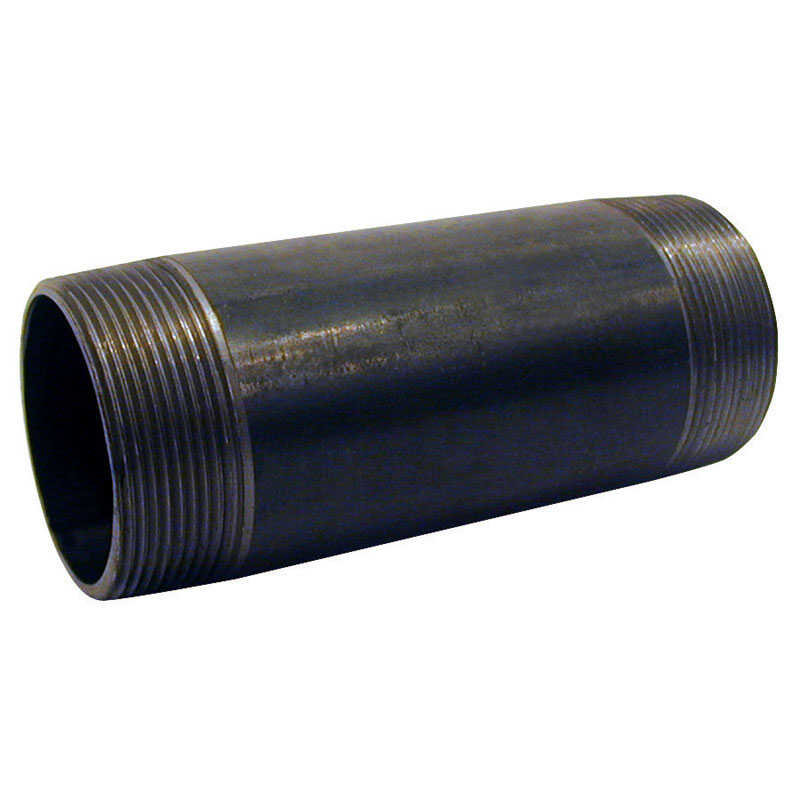 Mueller  1-1/4 in. MPT   x 1-1/4 in. Dia. x 4-1/2 in. L MPT  Black  Steel  Pipe Nipple