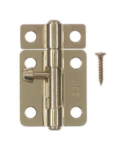 Ace Barrel Bolt 2-1/2 in. Bright Brass For Lightweight Doors, Chests and Cabinets