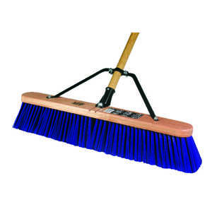 Quickie  Push Broom  24 in. W x 60 in. L Polypropylene