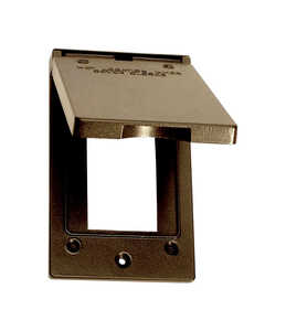 Sigma  Rectangle  Aluminum  1 gang Electrical Cover  For Vertical Mount
