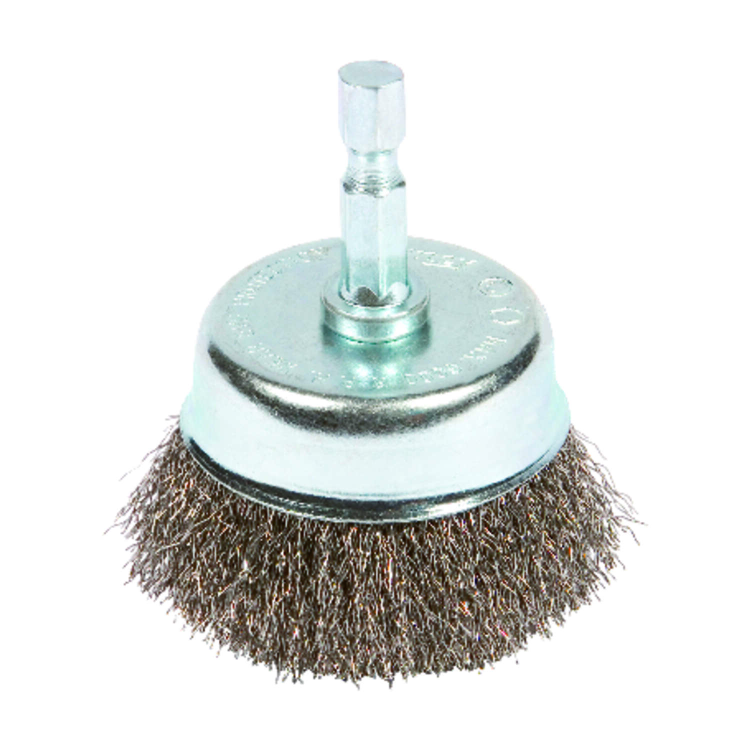 Forney 2 in. Dia. x 1/4 in. Fine Steel Crimped Wire Cup Brush 6000 rpm 1 pc.