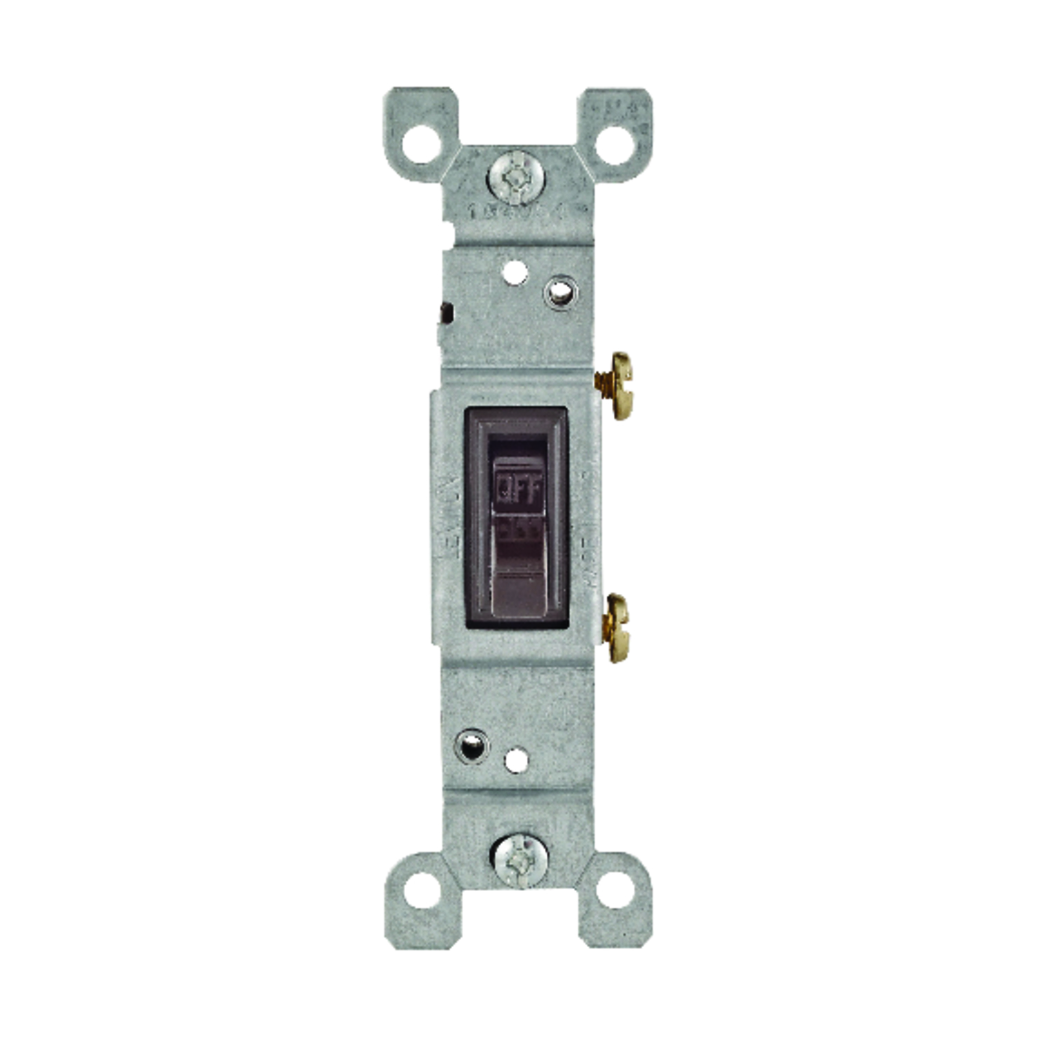 Leviton  15 amps 1 pk Brown  Switch  Toggle