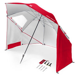 Sport-Brella 8 ft. Tiltable Red Sport Umbrella