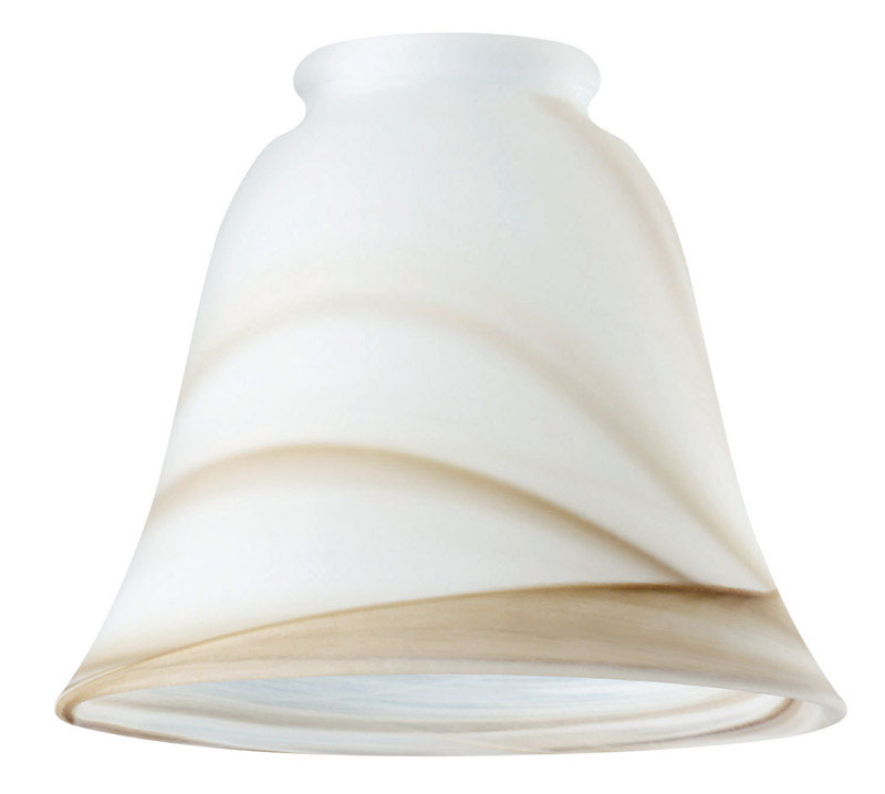 Westinghouse  Bell  Ivory  Glass  Fan/Fixture Shade  1