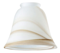 Westinghouse  Bell  Ivory  Glass  Fan/Fixture Shade  1 pk