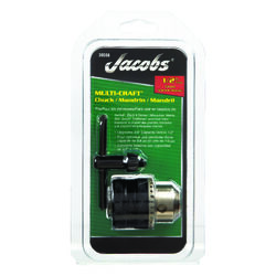 Jacobs  1/2 in. in. Drill Chuck  1/2 in. 3-Flat Shank  1 pc.