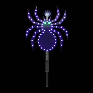 Santa's Best  LED Spider Stake  Lighted Halloween Decoration