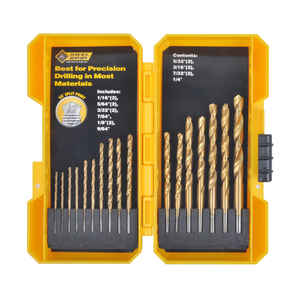 Steel Grip  Multi Size  Dia. x Multi Size  L Titanium  Drill Bit Set  Straight Shank  17 pc.