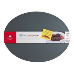 Architec  13 in. W x 17 in. L Textured  Gray  Polypropylene  Concave Carving Board
